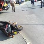 Znane podrobnosti o sobotni nesreči motorista v Šentjurju; v Šmarju dim iz dvigala zdravstvenega doma