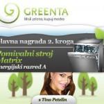 2. krog Greenta.si nagradne igre: pomivalni stroj Matrix