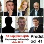 Predstavitve 50 najvplivnejših KiO v letu 2010: od 41. do 50. mesta
