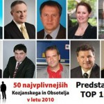10 najplivnejših Kozjanskega in Obsotelja v letu 2010