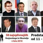 Vplivneži Kozjanskega in Obsotelja 2010 med 11. in 20. mestom