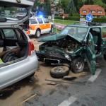 V Šentjurju trčili vozili (foto)