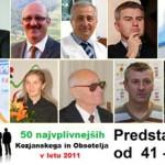 Predstavitve 50 najvplivnejših KiO v letu 2011: od 41. do 50. mesta