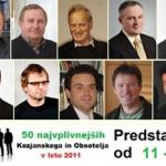 Vplivneži Kozjanskega in Obsotelja 2011: od 11. do 20. mesta