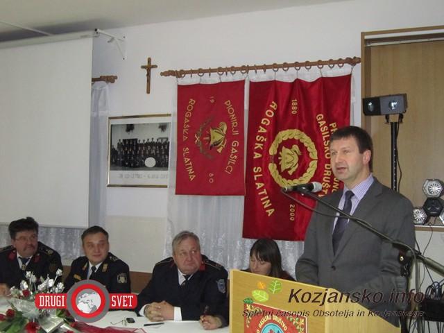 Župan mag. Branko Kidrič je pohvalil delo gasilcev