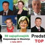 10 najvplivnejših Kozjanskega in Obsotelja v letu 2011