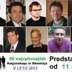 Vplivneži Kozjanskega in Obsotelja 2012: od 11. do 20. mestra