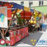 Mladi v Celju postavili Evropsko vas (foto, video)