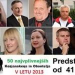 Predstavitve najvplivnejših KiO 2013: od 41. do 50. mesta