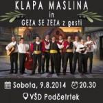 Vabimo na koncert klape Maslina in Geza se zeza z gosti v Podčetrtek – vstopnice pol ceneje