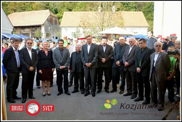Tudi letošnji Praznik kozjanskega jabolka so obiskali številni visoki gostje