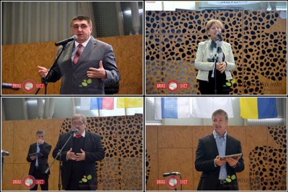 Župan Peter Misja, Mimica Kidrič, Slavko Kajba in mag. Darko Pepevnik.