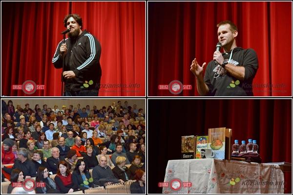 Pred Pižamo je obiskovalce ogrel Tomaž Stanovnik, ki je pripovedoval zabavne dogodivščine, ki jih je doživljal kot učitelj.