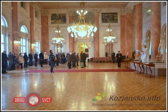Kakšnih 70 pravoslavnih kristjanov se je udeležilo božične maše v Rogaški Slatini.