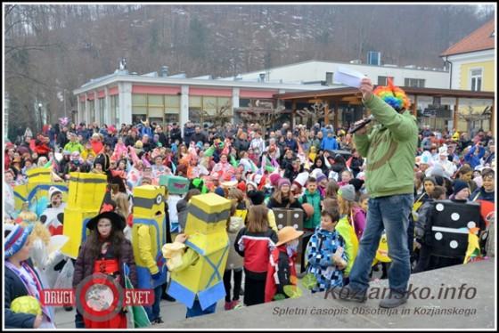 Približno 1000 mask se je udeležilo povorke na pustno soboto v Rogaški Slatini.