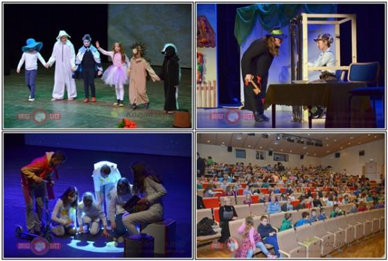V prvem delu Gledališkega vrtiljaka so si osnovnošolci ogledali predstave Vila Malina, Hop v pravljico in Zvezdico Zaspanko.