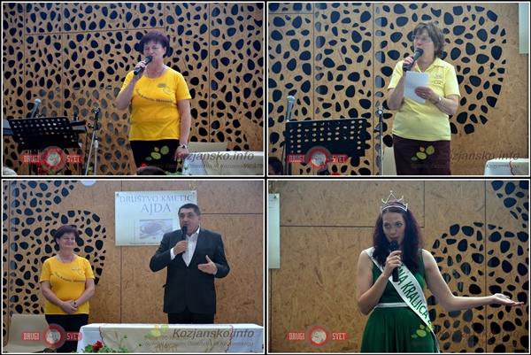 Predsednica ZKS Irena Ule, Francka Javeršek, Peter Misja in mlečna kraljica so nagovorili tekmovalke.