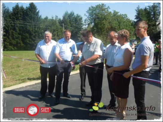 Otvoritev ceste na območju Občine Podčetrtek, Polje ob Sotli.