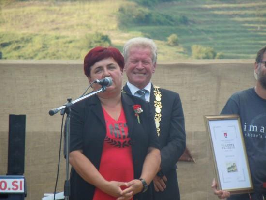 V imenu občinskih nagrajencev se je zahvalila ga. Majda Kramberger.
