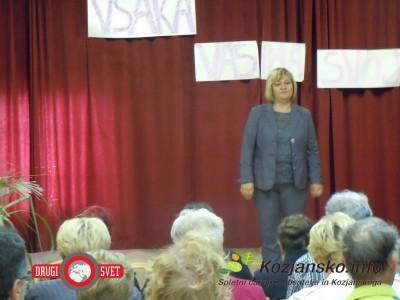 Predsednica Društva žena Sv. Florijan Lojzka Ferčec.