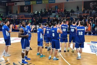 Slatinčani so imeli v Domžalah podporo s tribun. Foto: KK Rogaška.