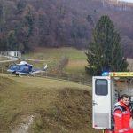 Po poškodbah, zadanih s strani bika, ga je odpeljal helikopter
