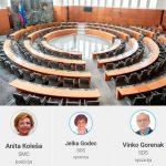 Kaj v državnem zboru počnejo poslanci Anita Koleša, Jelka Godec in dr. Vinko Gorenak