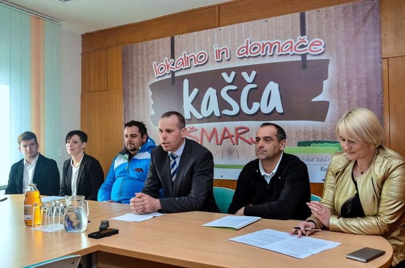 S petkove novinarske konference, kjer so podrobneje predstavili pridobitev - prenovljeno trgovino Kašča Šmarje.