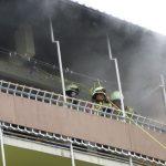 Šentjurski gasilci izvedli prikaz reševanja iz visoke stavbe (foto)