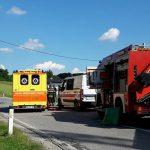 V trku na slatinski obvoznici poškodovan motorist (foto)