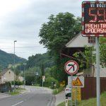 Prikazovalnik hitrosti tudi v Gorici pri Slivnici