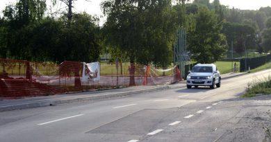 Mesto, kjer so občinski redarji merili hitrost voznikov