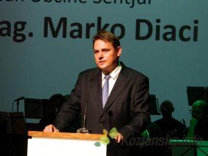Župan Marko Diaci je izrazil zadovoljstvo ob vseh dosežkih občine, poudaril pa je, da mora trajnostni razvoj postati naš vsakdan.