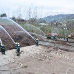 Meddržavna gasilska vaja na Žagarstvu Vlček v Bistrici ob Sotli (foto, video)