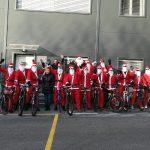 Dvajset božičkov kolesarilo od Šentjurja do Šmarja pri Jelšah (video)