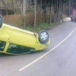 Prevrnjeno vozilo pri Rogaški Slatini