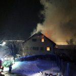 Uničena hiša pri Rogaški Slatini, dva opečena pri Šentjurju (foto, video)