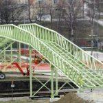 Šmarski železniški nadhod postavljen (foto)