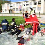 Vaja zaščite in reševanja Požar v Večnamenskem centru Kozje 2018 (foto, video)