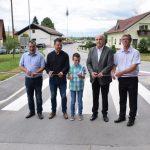 Med Spodnjim Mestinjem in Zibiko obnovljena cesta (foto, video)