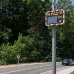V Rogaški Slatini dobili nov opozorilni prikazovalnik hitrosti