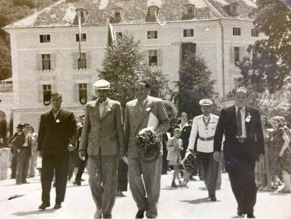 Boris Kidrič še zadnjič v Rogaški Slatini ob odkritju spomenika padlim borcem in žrtvam fašističnega terorja, 1952.