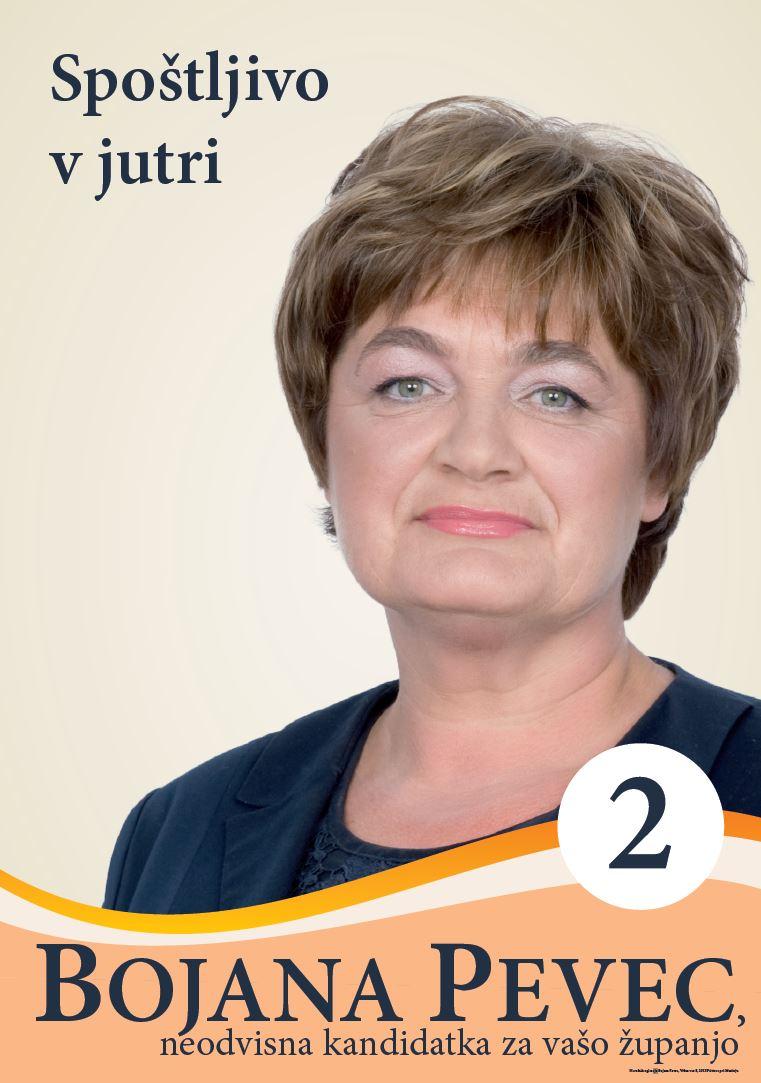 Bojana Pevec, neodvisna kandidatka za županjo občine Šmarje pri Jelšah