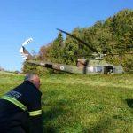 Helikoptersko reševanje pri Dramljah (foto), posredovanje pri Stopčah