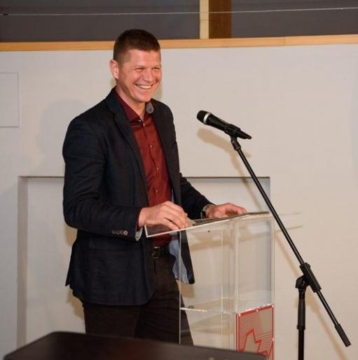 Matija Čakš je zbranim predstavil svoj program (foto: Zorin)