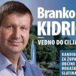Nagovor volivcev s strani slatinskega župana, mag. Branka Kidriča