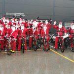 Trideset Božičkov kolesarilo od Šentjurja do Šmarja pri Jelšah (foto, video)