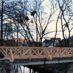 Športni park in trg Kozje povezuje nov leseni most (foto)