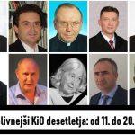 Vplivneži KiO desetletja: od 11. do 20. mesta