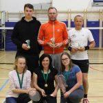 Hartl petič zapored prvak v badmintonu, prvič tekmovala tudi dekleta